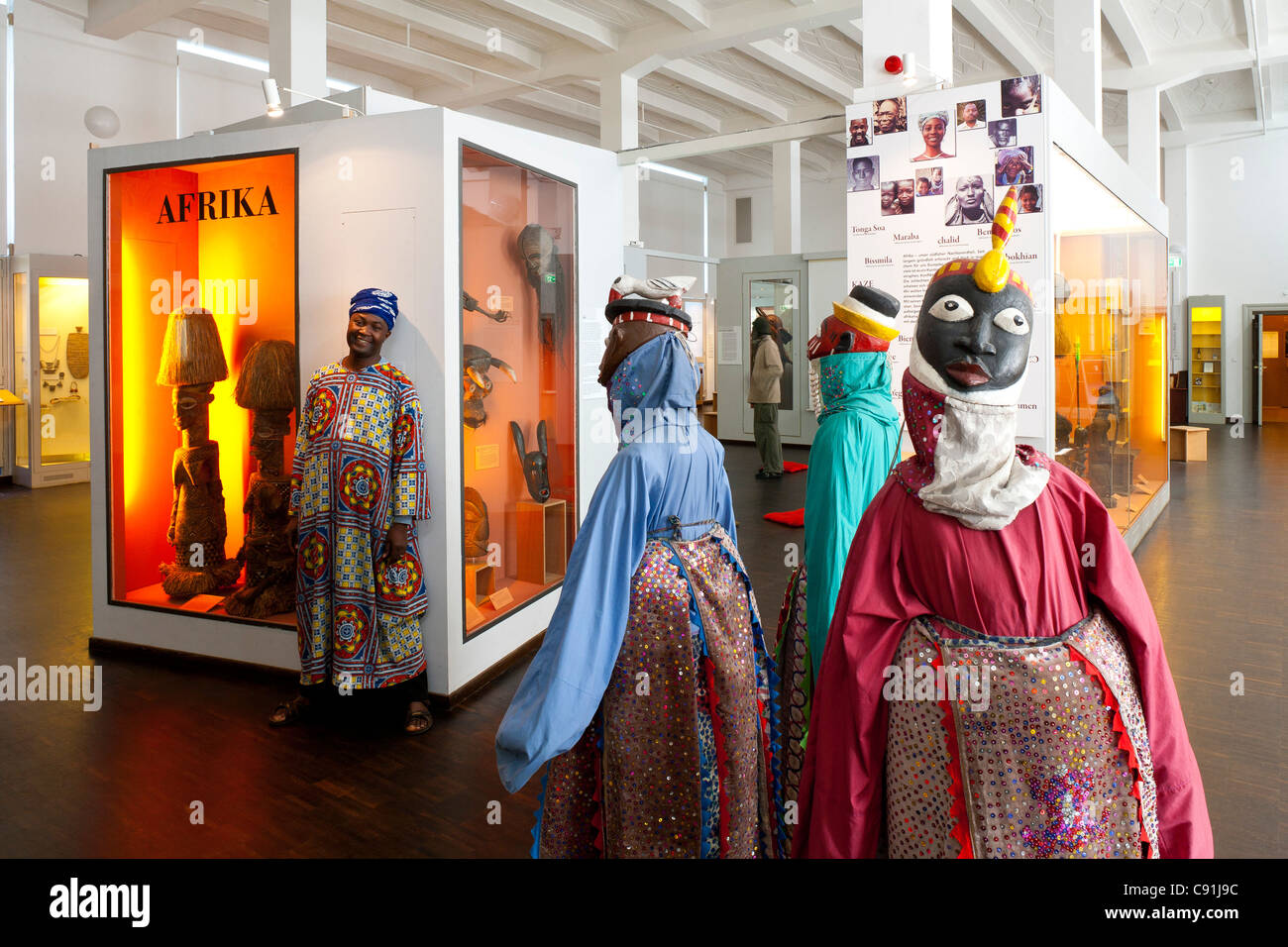 Museum of Ethnology Hamburg, Africa exhibtion, Hanseatic city of Hamburg, Germany, Europe - Stock Image