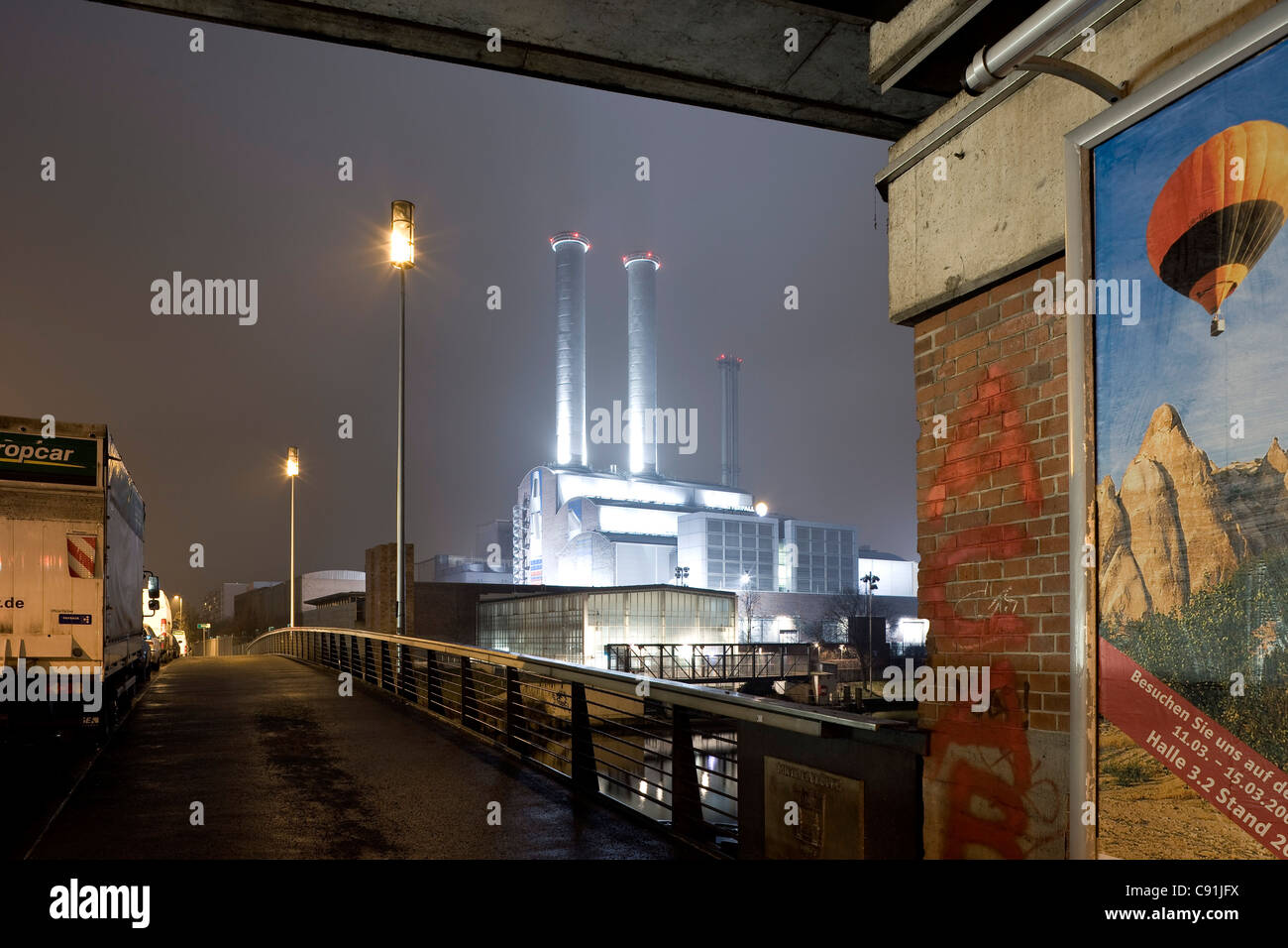 Power station Berlin Mitte, Michael bruecke, Berlin-Mitte, Berlin, Germany, Europe - Stock Image