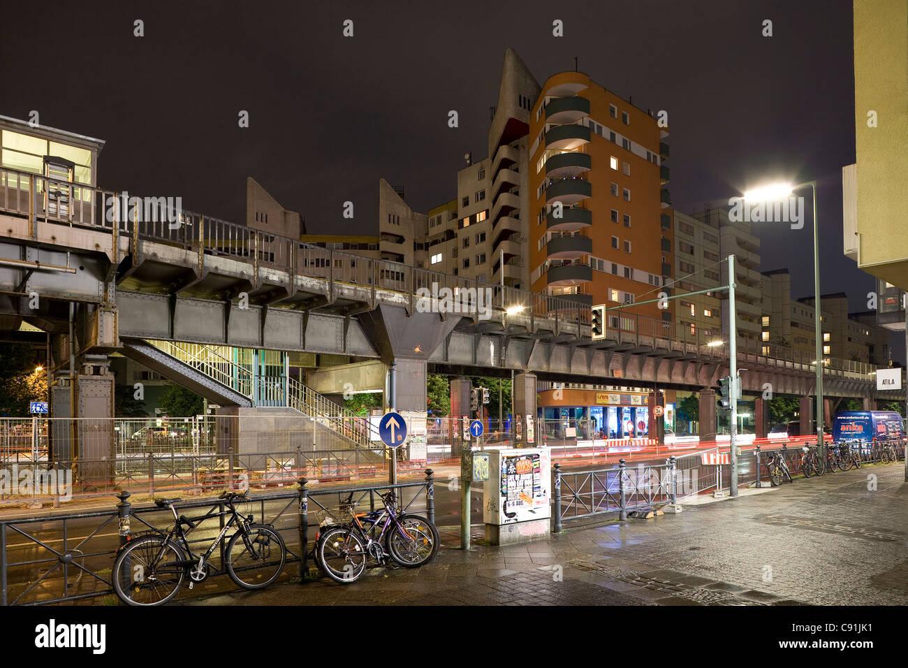 Subway station, Kottbusser Tor, Berlin-Kreuzberg, Berlin, Germany, Europe - Stock Image