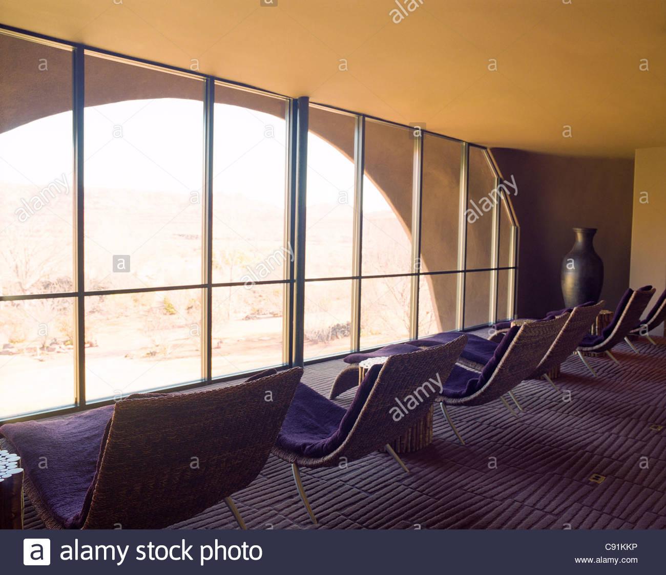 interior of sagestone spa at red mountain resort stock photo