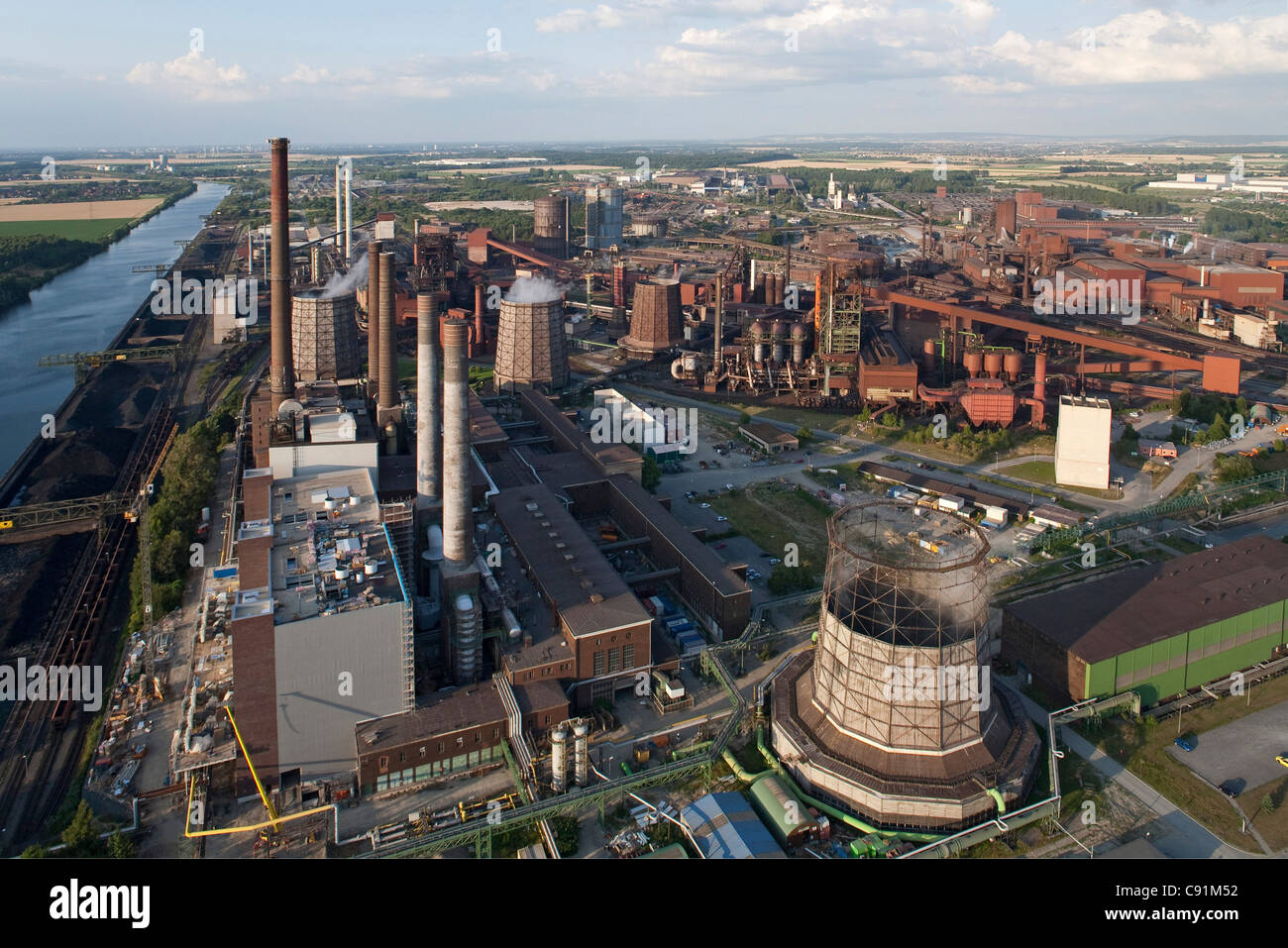 Aerial of Salzgitter Steelworks, Lower Saxony, Germany - Stock Image