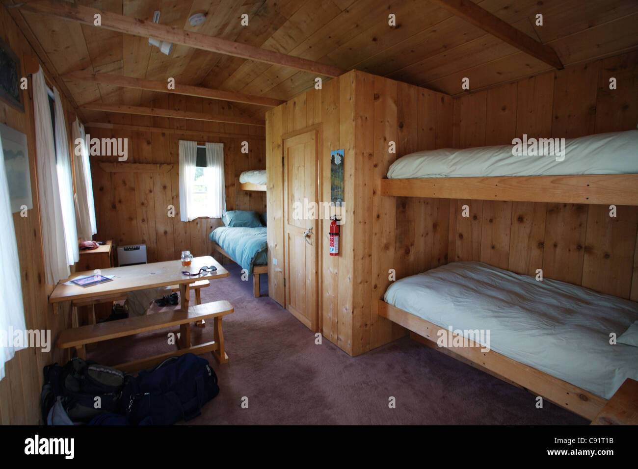 Lodging Remote Fishing Hunting Camp Bunks Beds Stock Photo 39993447