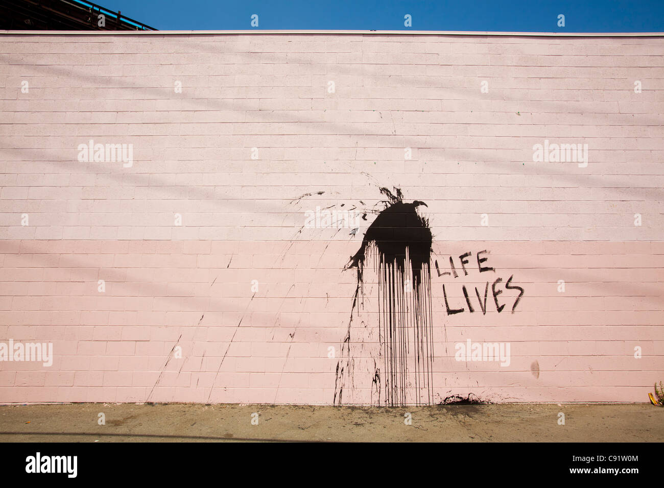 Street Art, Los Angeles, California, United States of America - Stock Image
