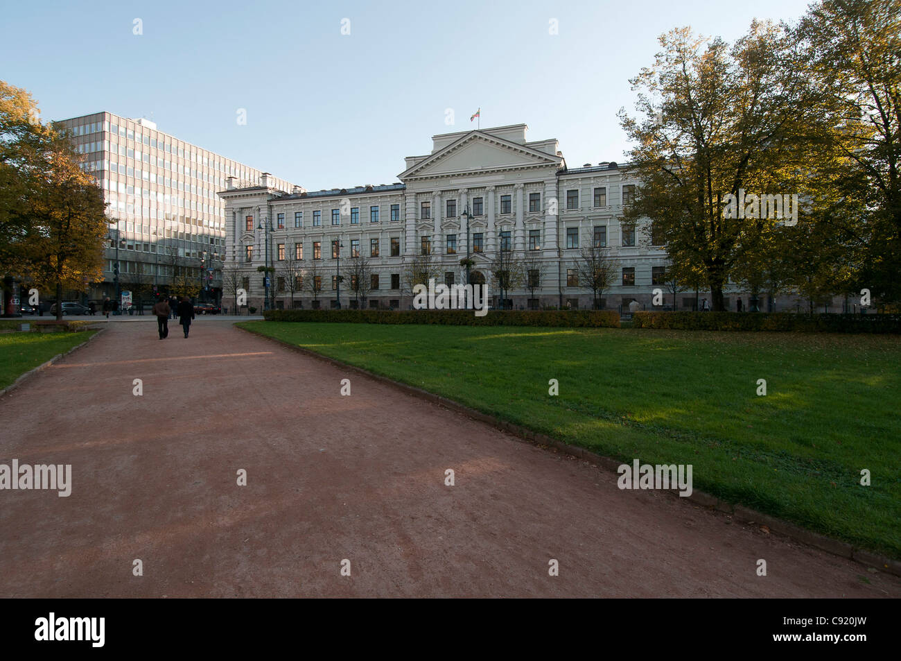 The Main Courthouse in Vilnius, Lithuania, formerly headquarters of the KGB. - Stock Image