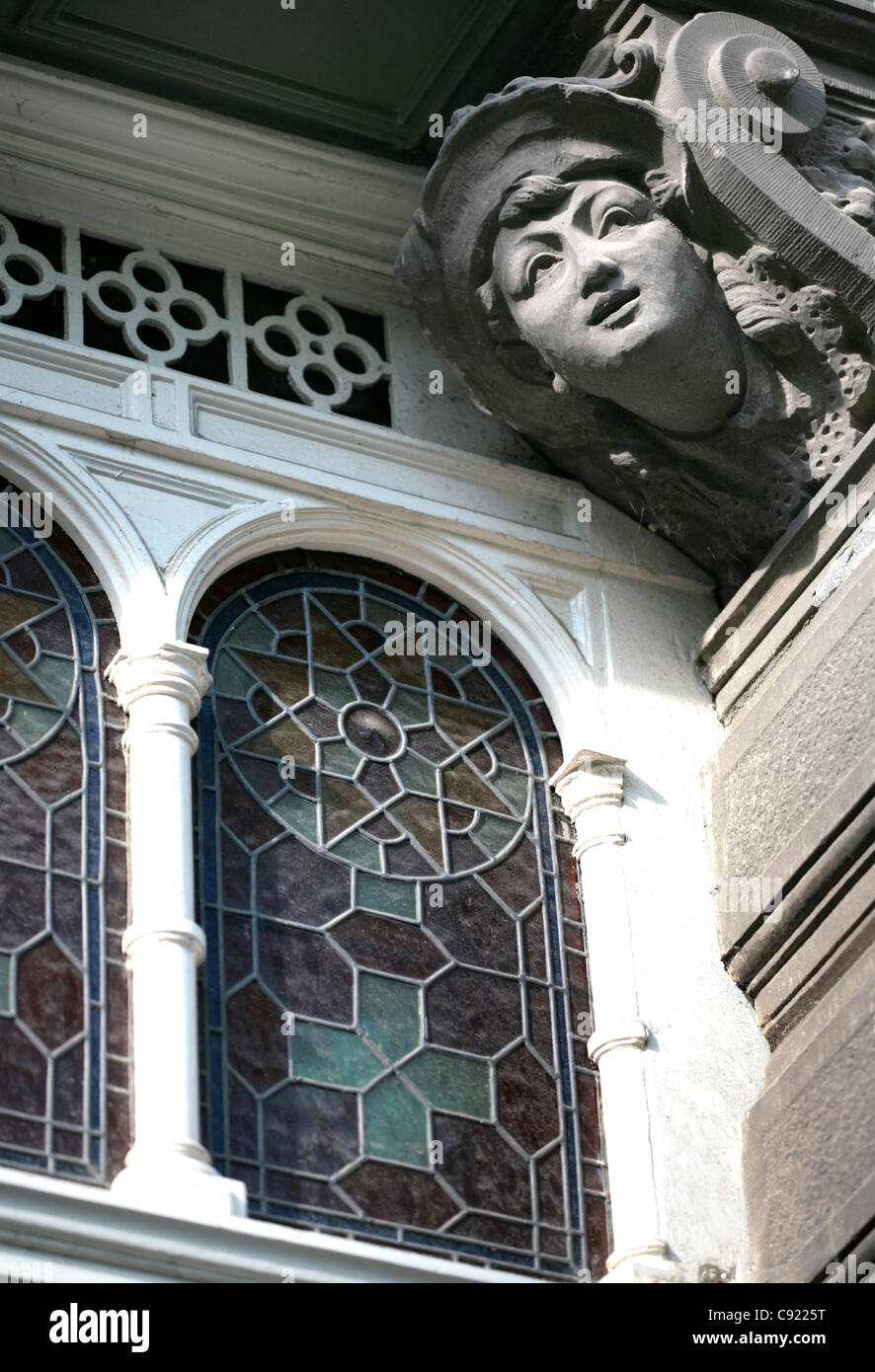 Amsterdam's buildings developed significantly during the Renaissance in a style which came to be known as common - Stock Image
