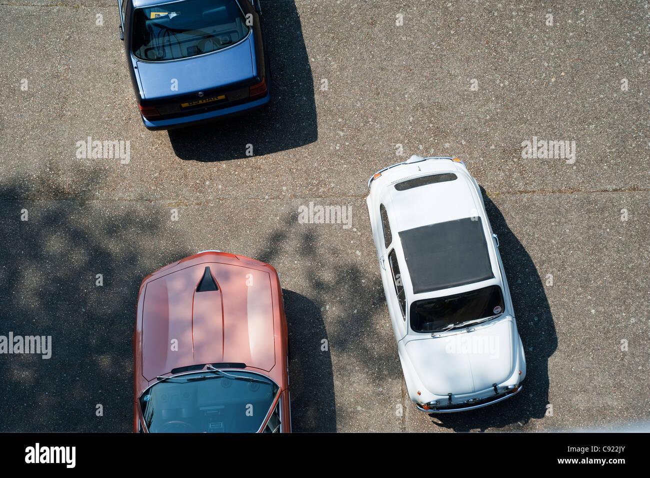 Italian cars at the Auto Italia Day at Brooklands historic race track. - Stock Image