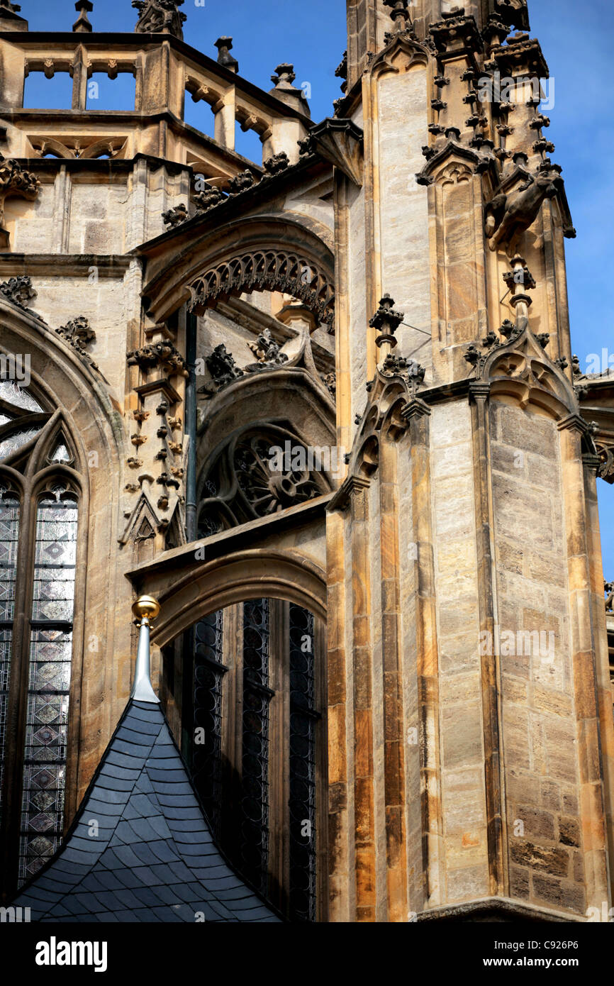 Kutna Hora and the neighboring town of Sedlec are an UNESCO World Heritage Site. Among the most important buildings - Stock Image