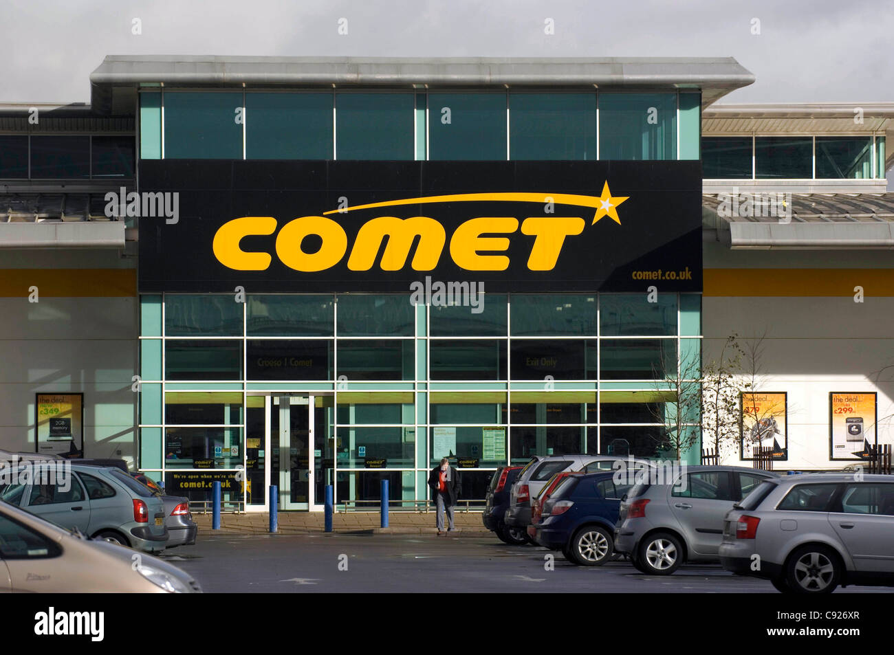 The Comet store at Maesglas Retail Park in Newport, South Wales. (file picture). Anglo-French electrical goods retailer - Stock Image