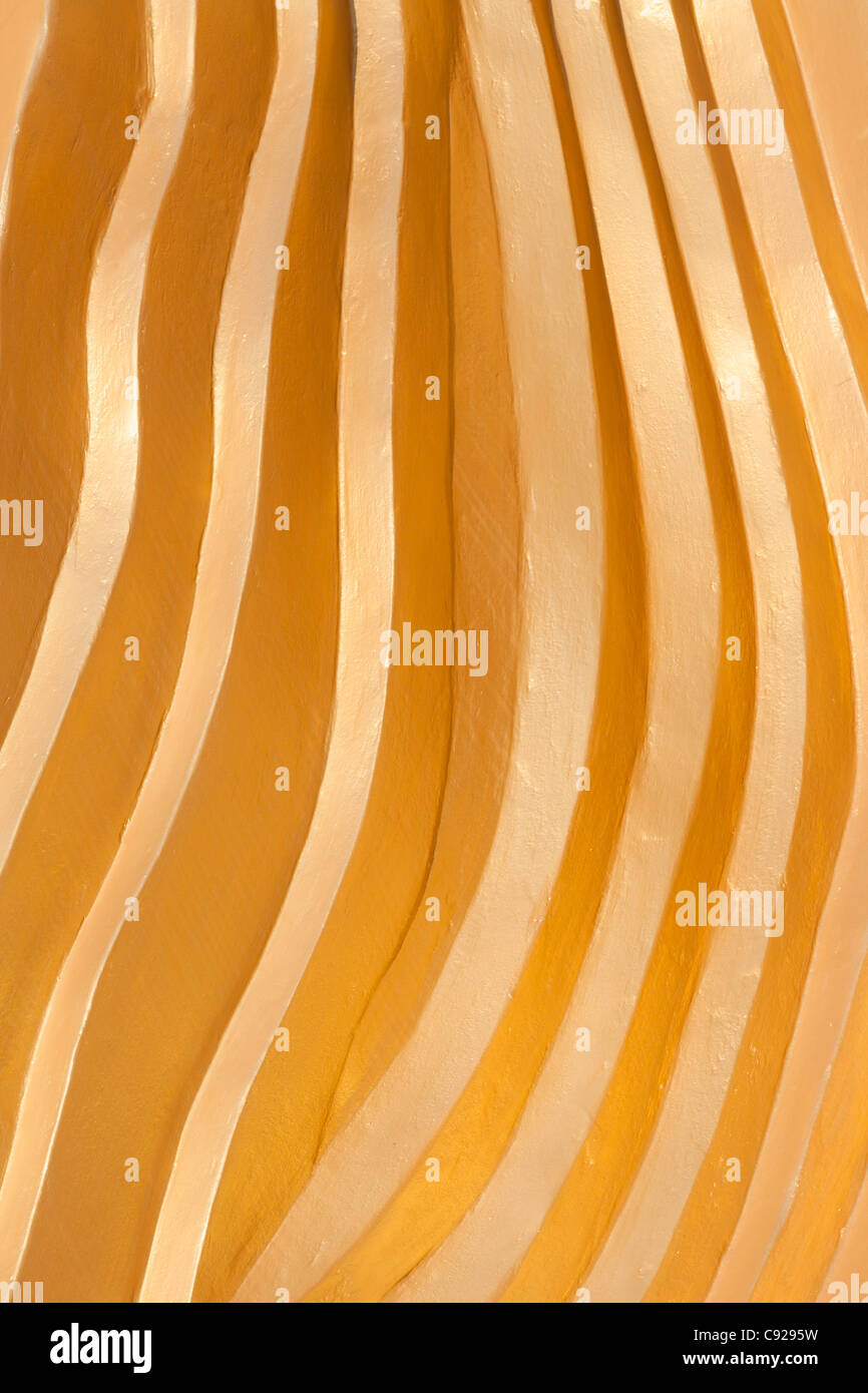 Giant reclining buddha,Wat Phranom Laem Phor,  Thailand. Abstract lines formed by details of the garment - Stock Image