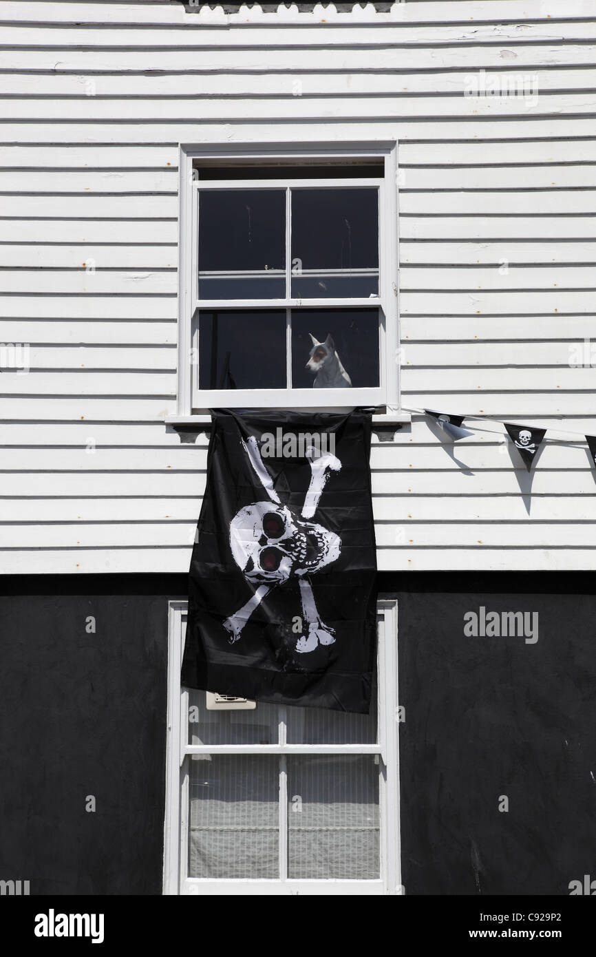 The quirky annual Pirate Day, held during festivities of Old Town Carnival Week in July/August in Hastings, East Stock Photo