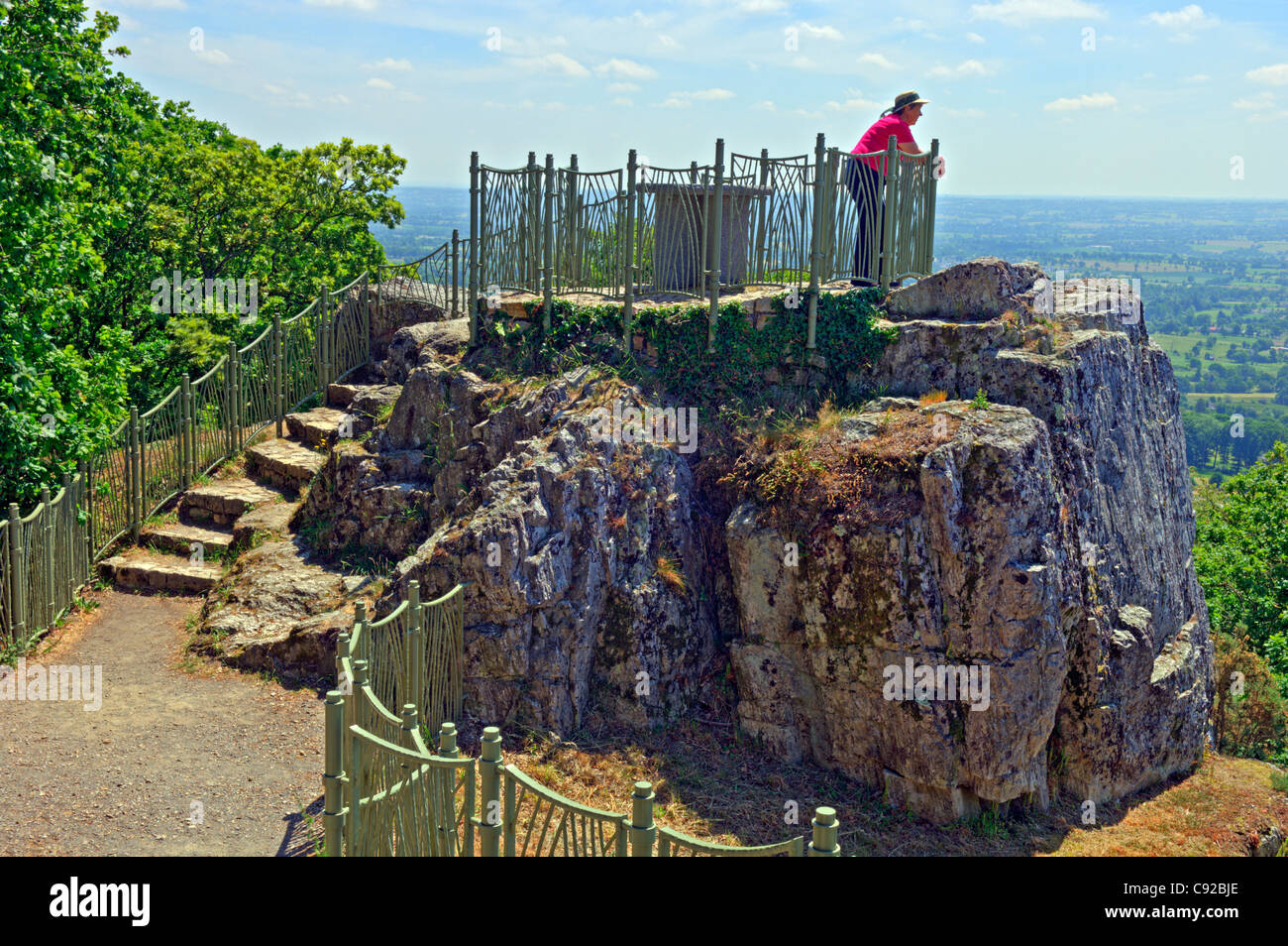 Viewpoint at La Petite Chapelle, Mortain in the Manche (50) departement of France - Stock Image