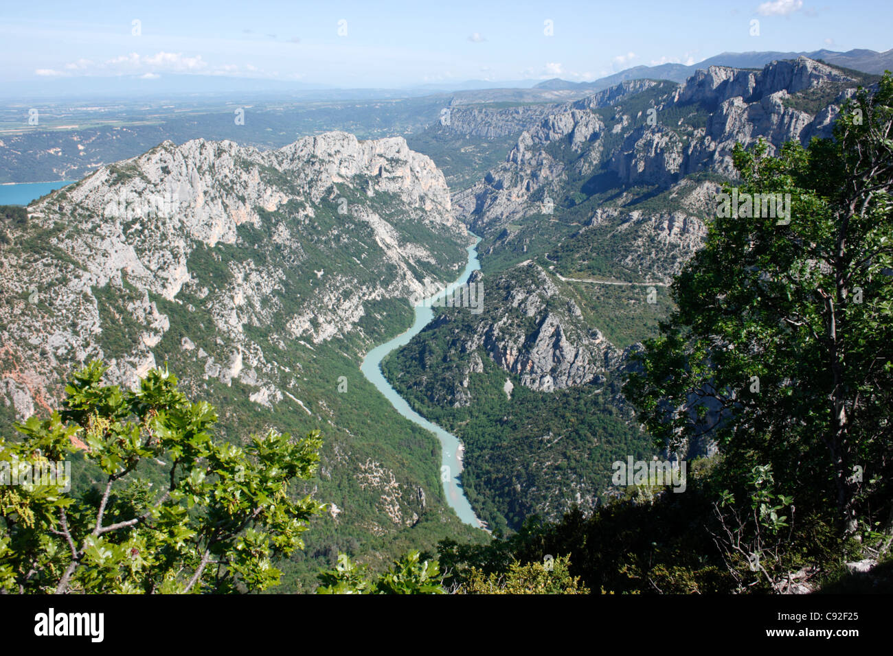 The Verdon Gorge is a beautiful river canyon which is a popular tourist destination. - Stock Image