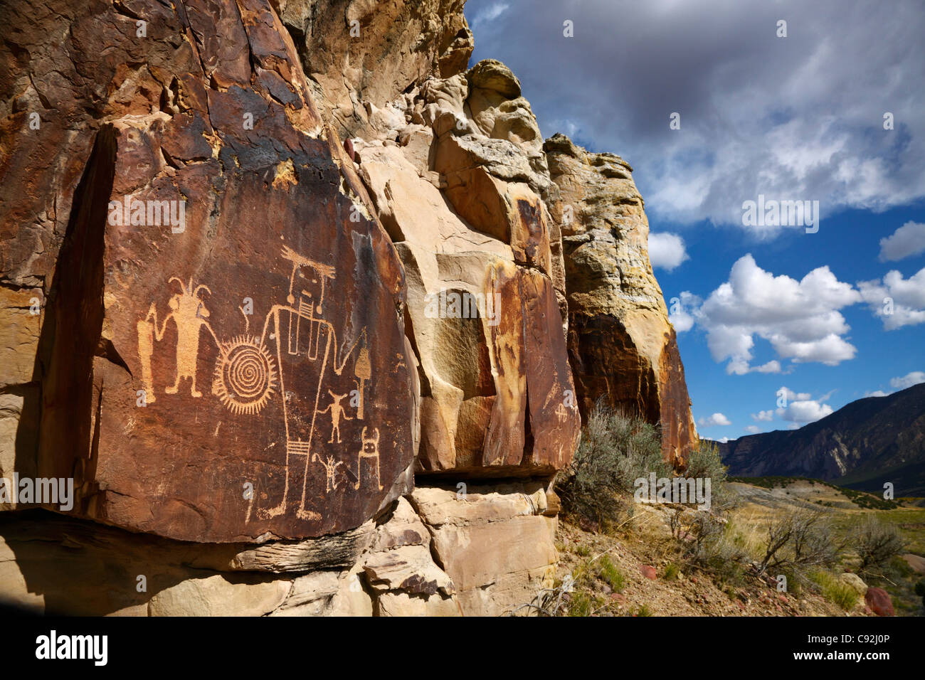 McKee Springs Petroglyphs, Dinosaur National Monument, Utah - Stock Image