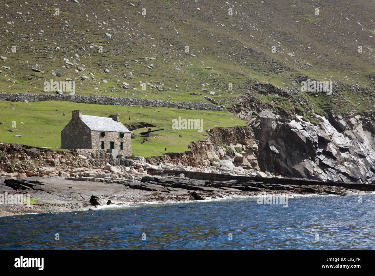 St Kilda is a national nature reserve a wildlife sanctuary and UNESCO world heritage site. It is the most important - Stock Image