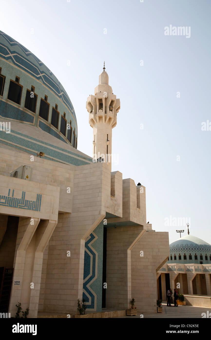 King Abdullah mosque, Amman, Jordan. - Stock Image