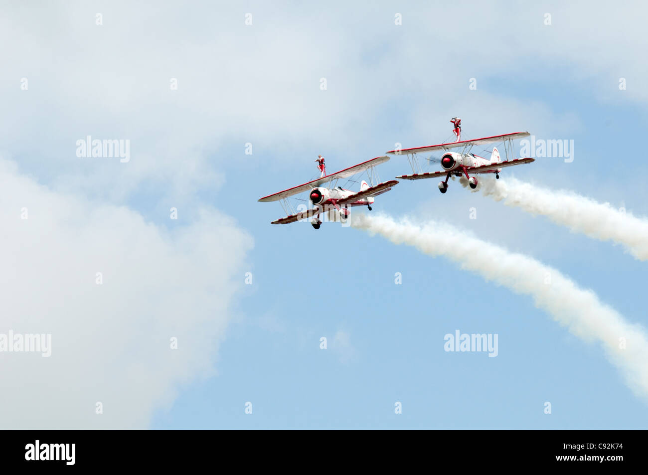 AeroSuperBatics Ltd based at RFC Rendcomb Aerodrome doing a flying display at Royal International Air Tattoo RAF - Stock Image