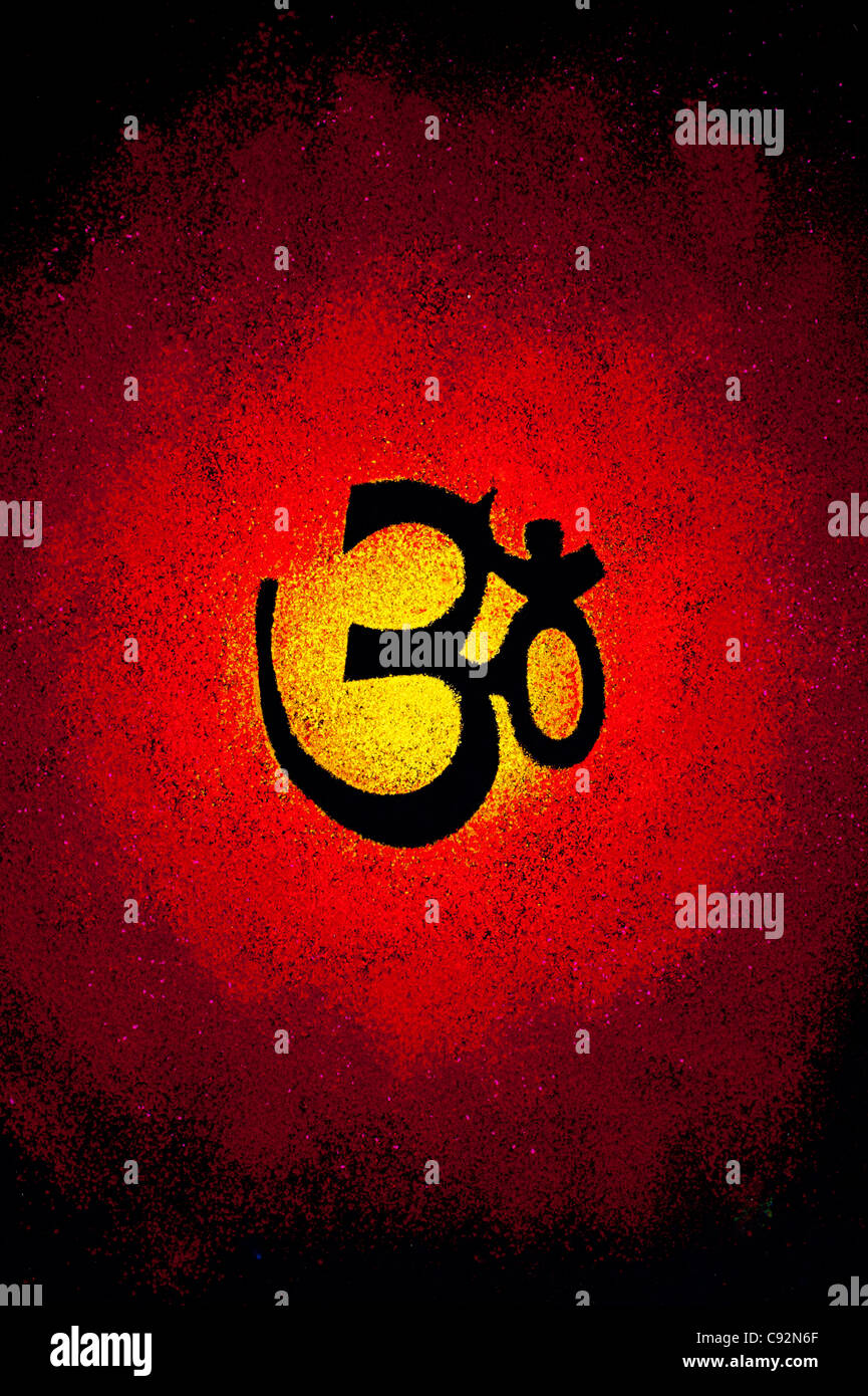 Hindu Religion Symbol Aum On Stock Photos Hindu Religion Symbol