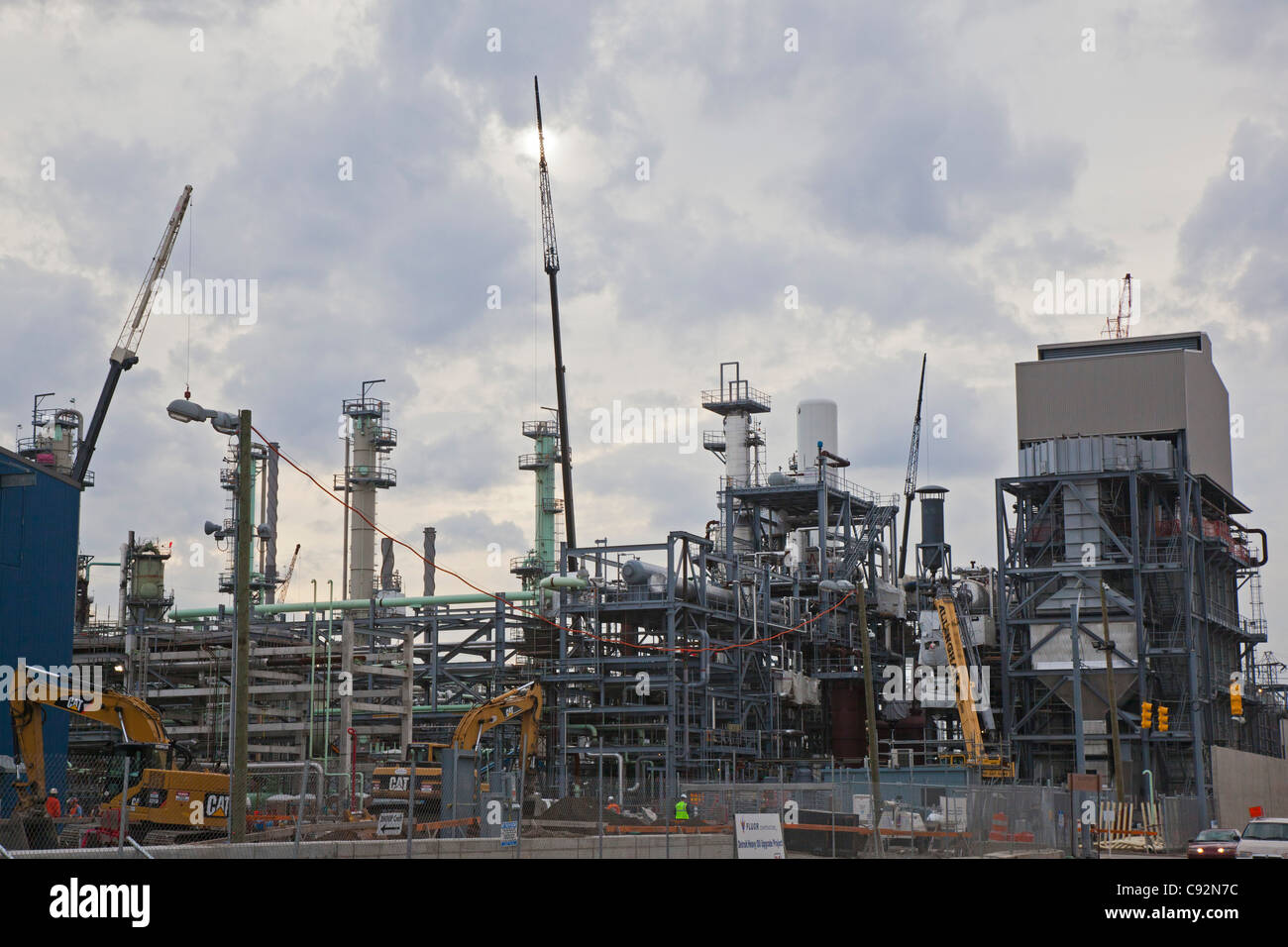 Expansion of Marathon Refinery to Facilitate Processing of Oil Sands Heavy Crude - Stock Image