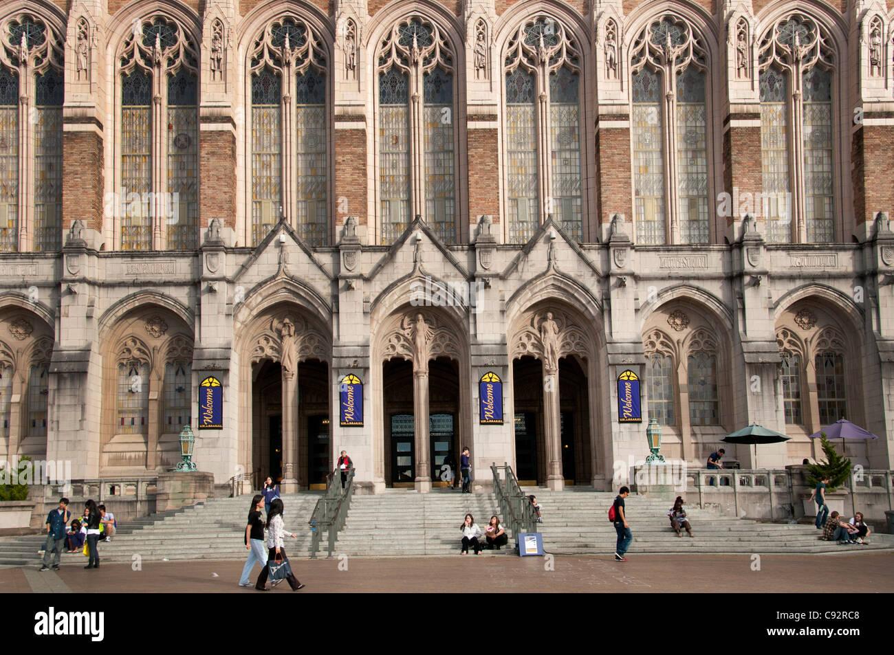 Seattle University of Washington United States Student Students - Stock Image