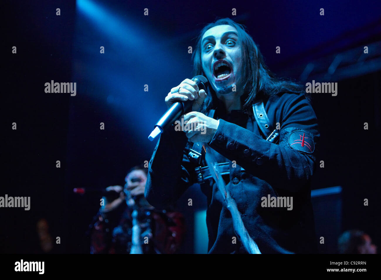 TURIN, ITALY - NOVEMBER 01: Lacuna Coil, Darkness Rising tour date on November 01, 2011 Turin, Italy. - Stock Image