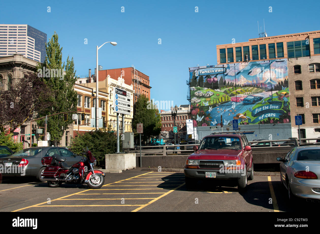 Portland downtown Town City Oregon United States of America USA - Stock Image