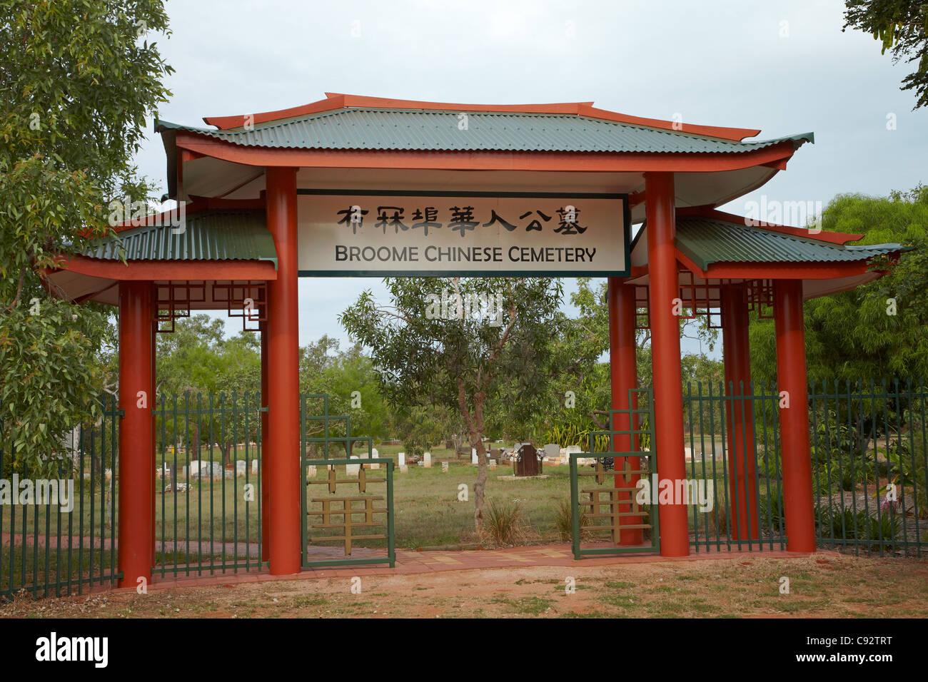 Broome Chinese Cemetery, Broome, Kimberley Region, Western Australia, Australia - Stock Image