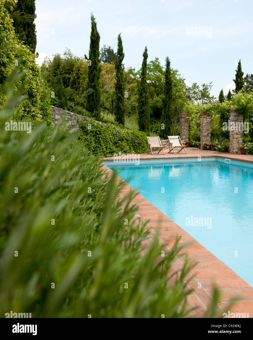 Tuscany villa italy pool stock photos tuscany villa - Hotels in lucca italy with swimming pool ...