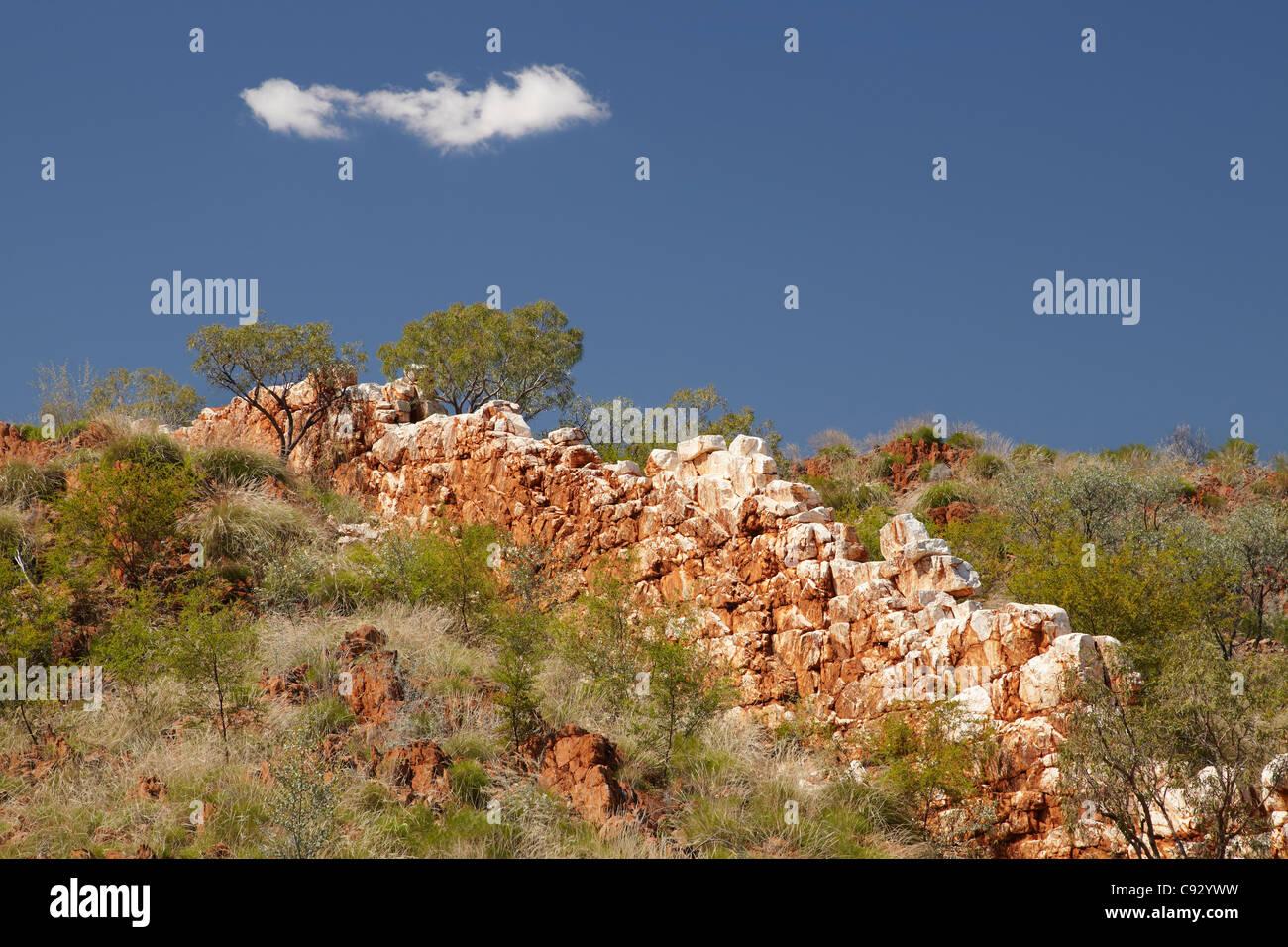 China Wall (vein of quartz rock), near Halls Creek, Kimberley Region, Western Australia, Australia - Stock Image
