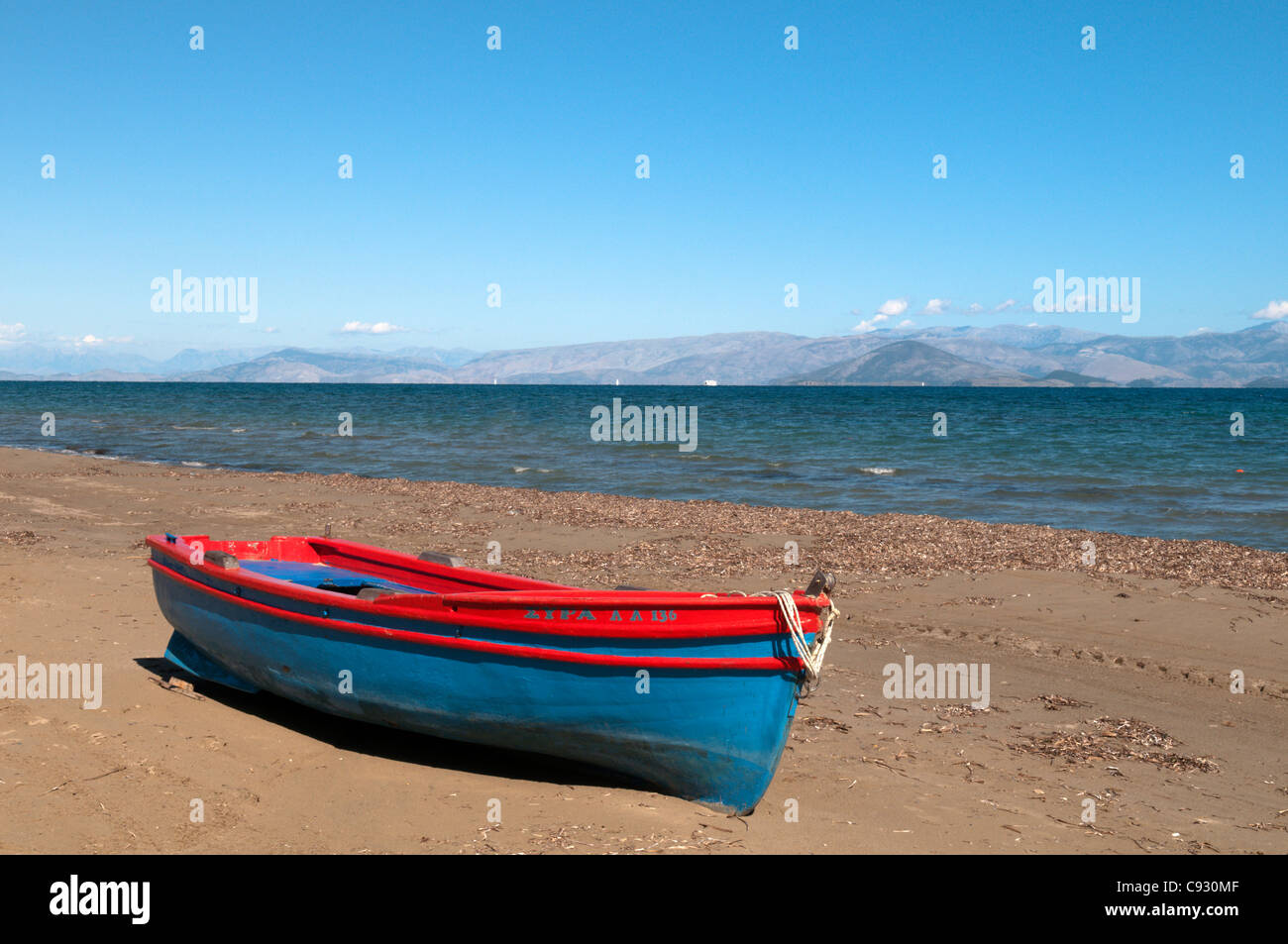 Kavos is a former fishing village on the island of Corfu opposite the Greek mainland. It is a lively resort popular - Stock Image