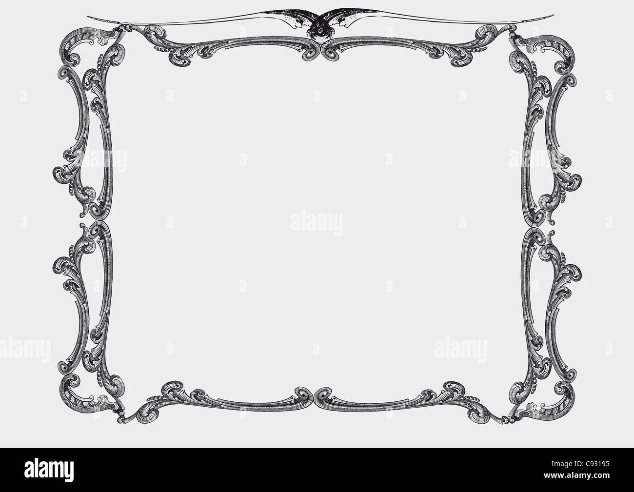 Old frame in vintage style - Stock Image