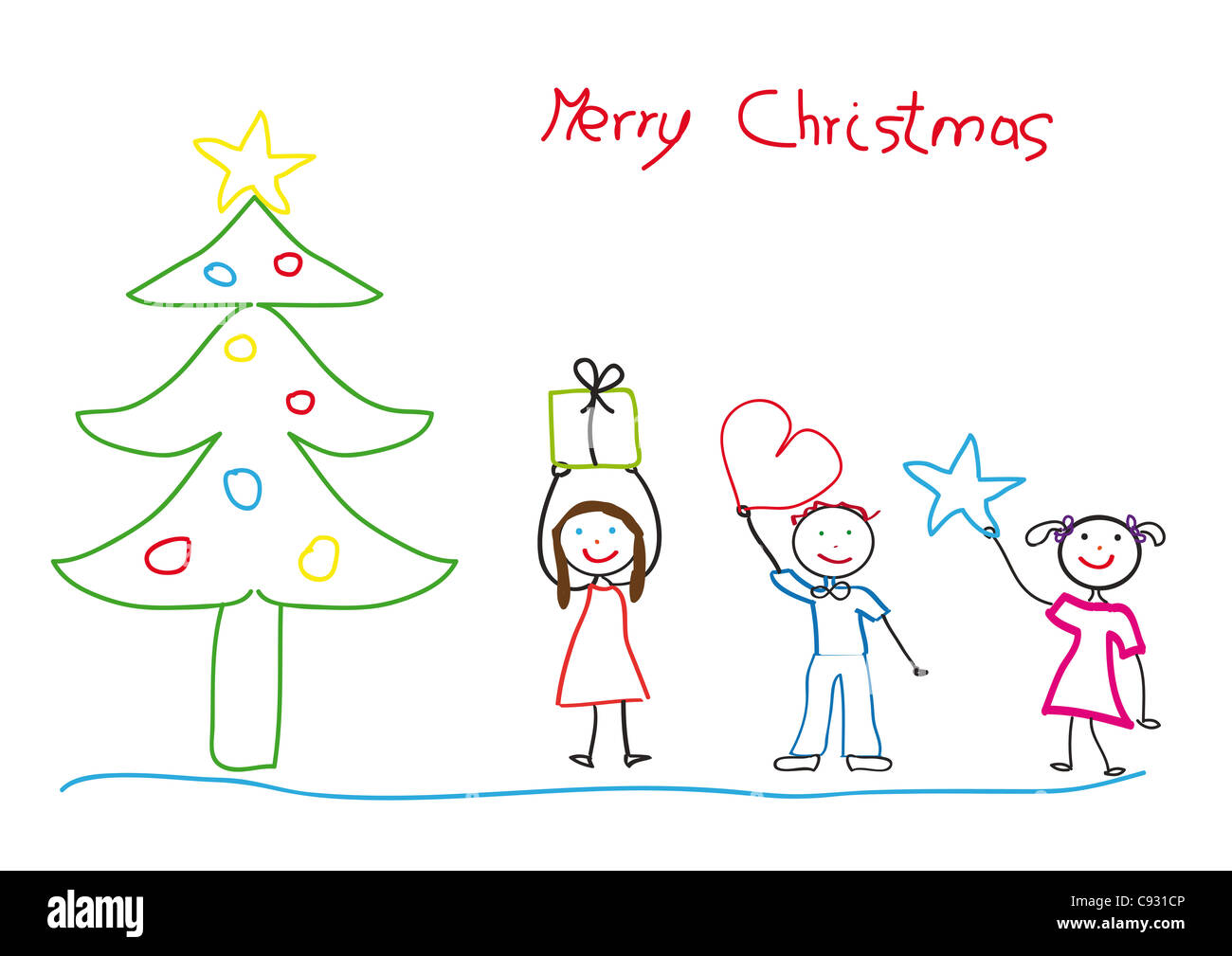 kids drawing with christmas tree and children stock photo alamy https www alamy com stock photo kids drawing with christmas tree and children 40019638 html