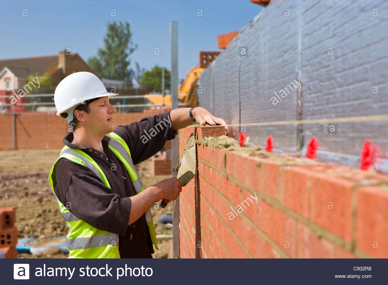 Brick Wall With Insulation Stock Photos Amp Brick Wall With