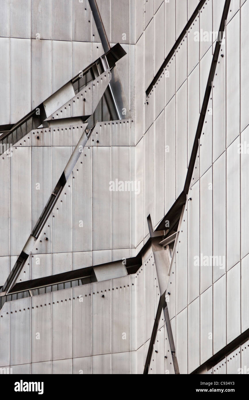 Zinc Cladding And Window Architectural Details Of The Jewish Museum Stock Photo Alamy