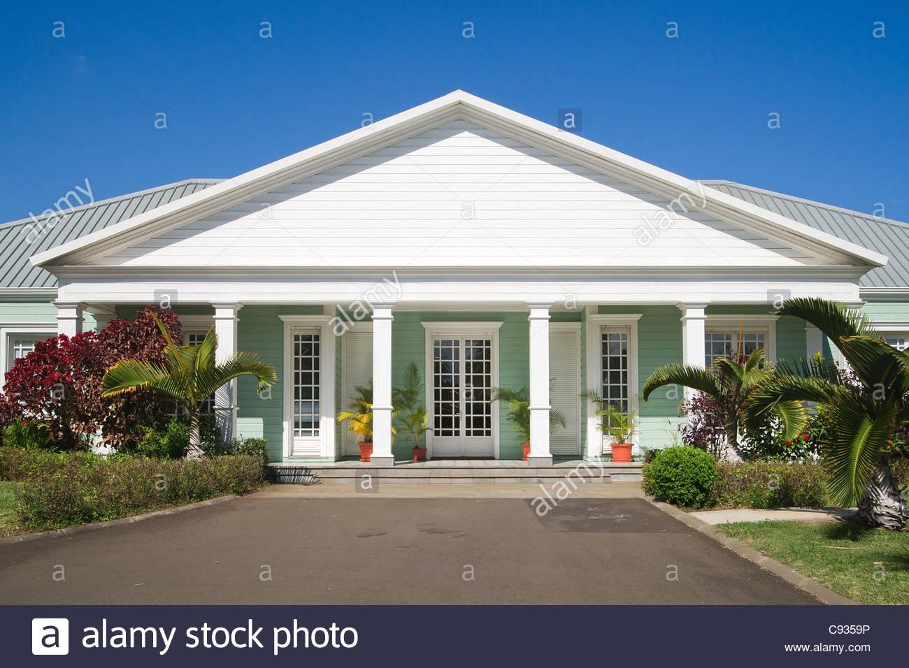 Creole house near La Saga du Rhum museum - Reunion island - Stock Image