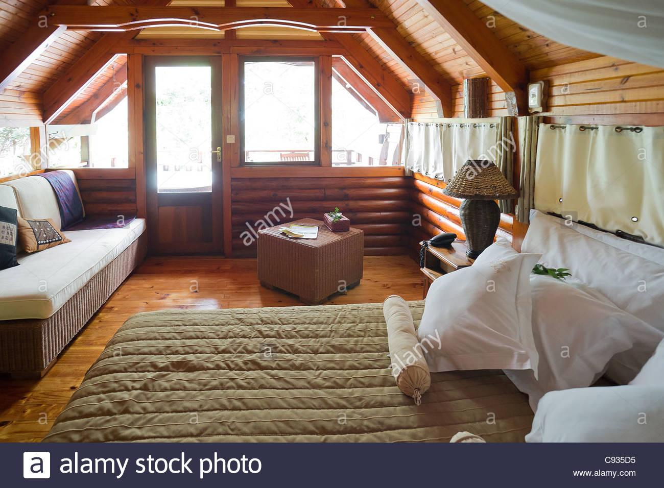Roche Tamarin lodge at La Possession on Reunion island - Stock Image