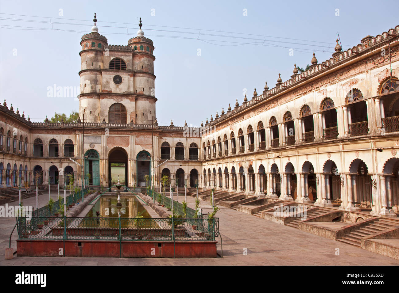 Lying 35 miles north of Kolkata  on the banks of the Hooghly River is the impressive Hugli Imambara building. Stock Photo