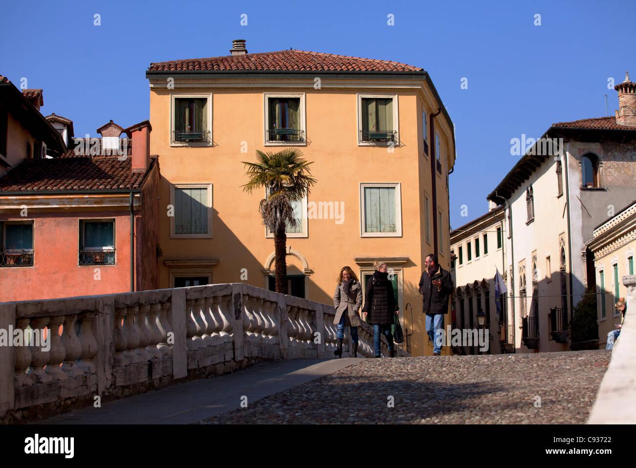 Italy, Veneto, Vicenza, Western Europe; 'Ponte San Michele' -St.Michael's Bridge - Stock Image