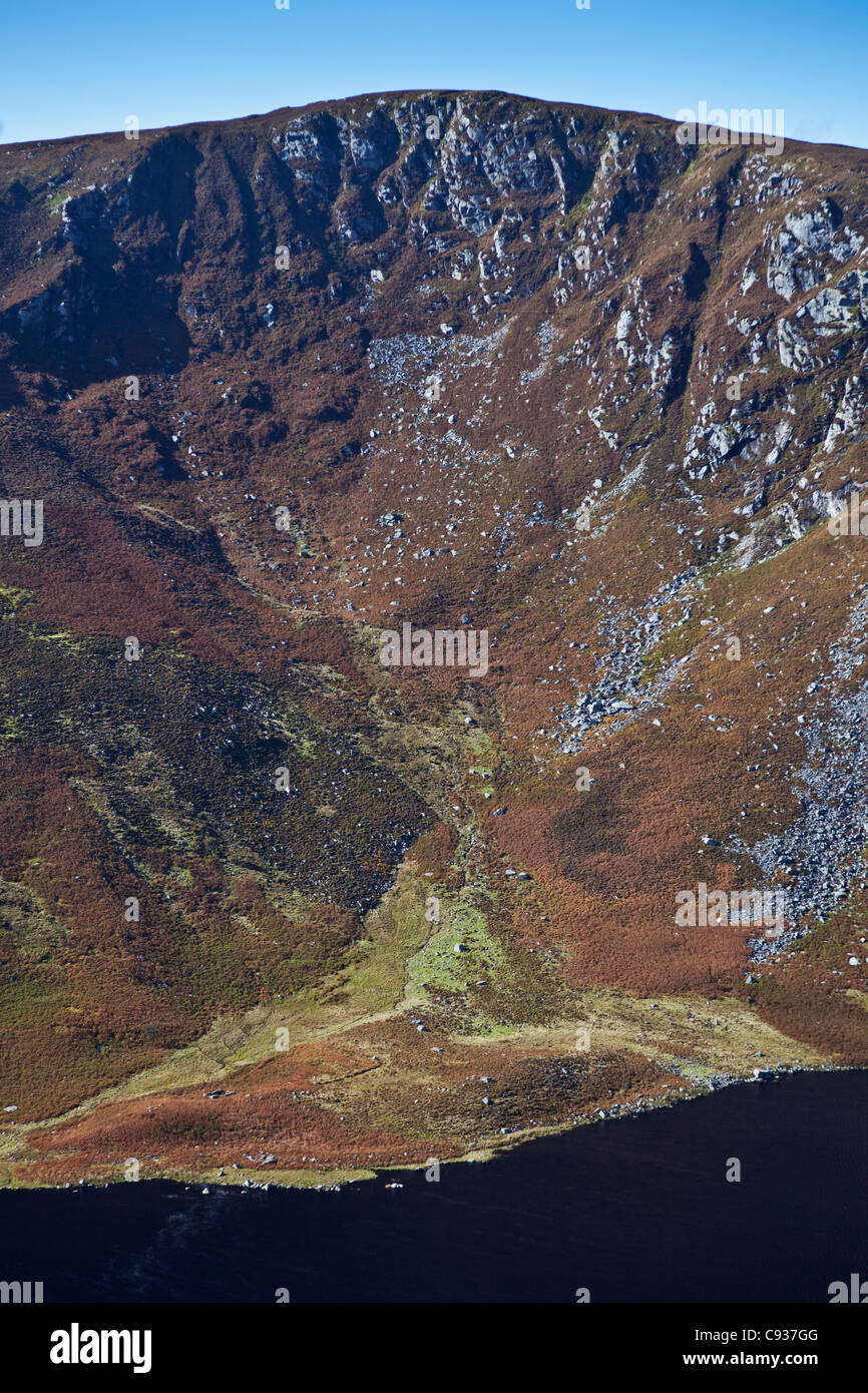 Ireland, Co. Wicklow, Luggala, Lough Tay, view looking towards, Luggala Mountain. - Stock Image