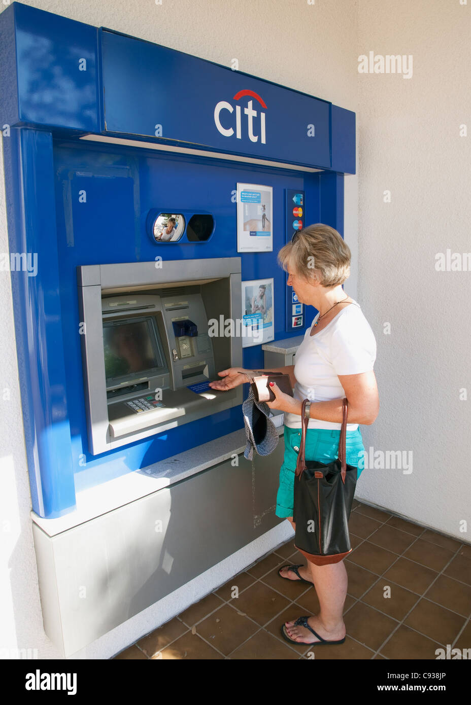 A Citibank Stock Photos Images Alamy Wiring Instructions For Withdrawing Cash From Machine Image