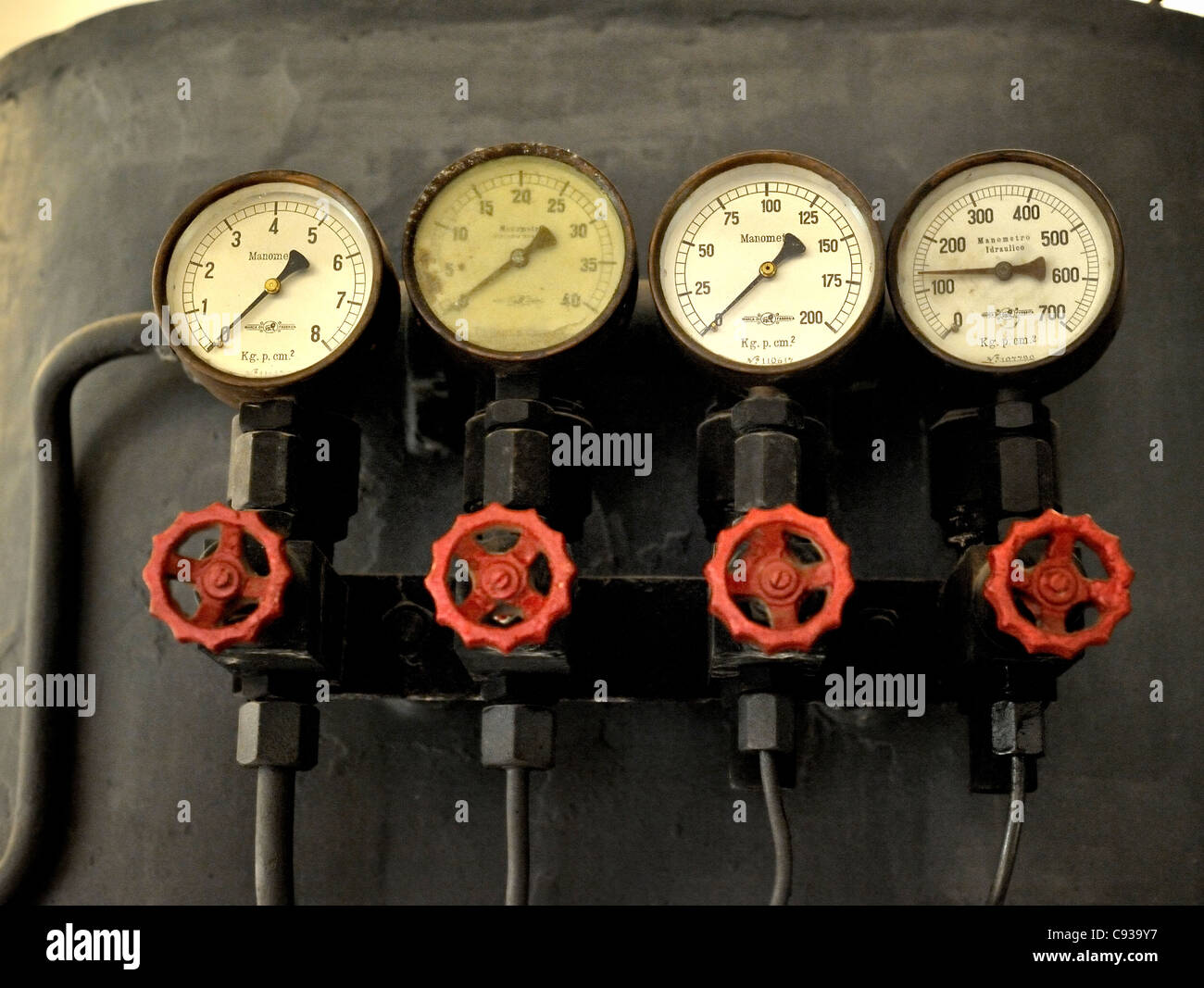 Machinery instruments. - Stock Image