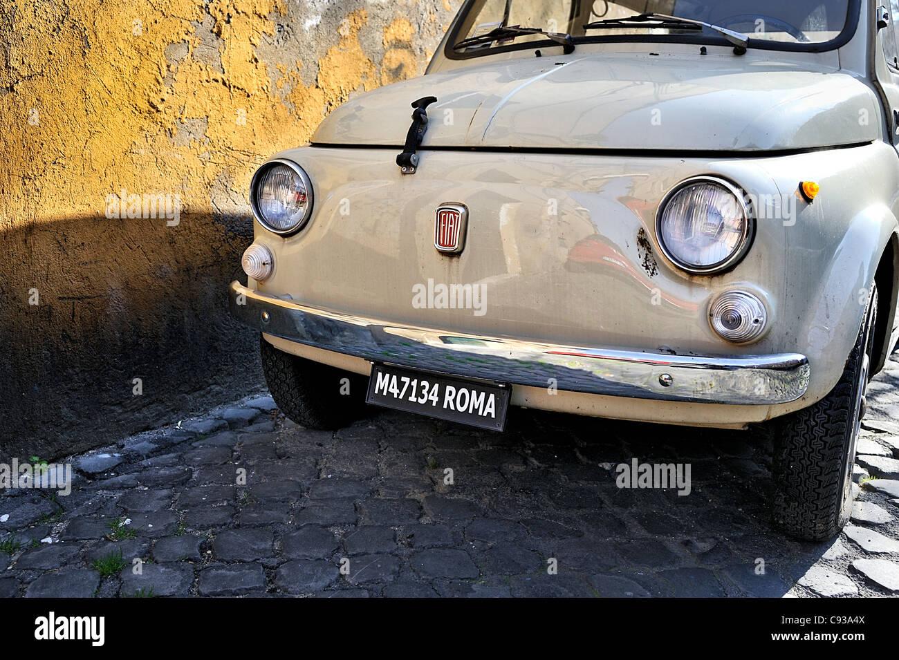 Fiat 500, Roma, Italy. - Stock Image