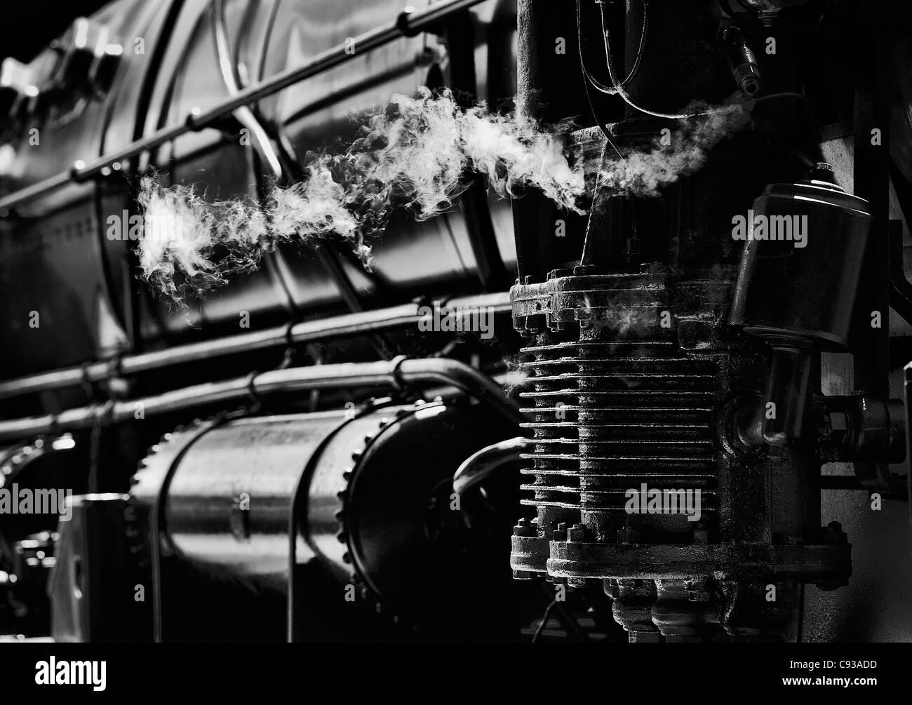 Steam locomotive. Stock Photo