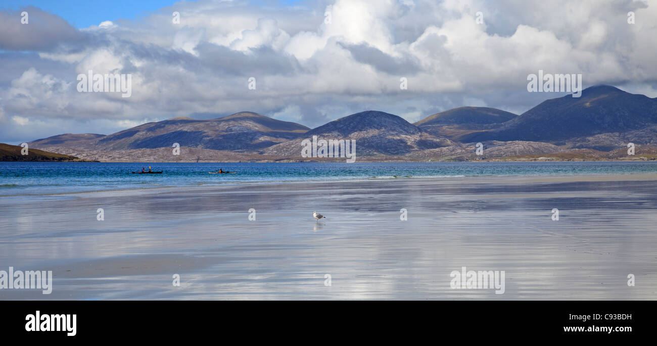 Luskentyre Isle of Harris, Outer Hebrides, Scotland with Isle Taransay in the background - Stock Image