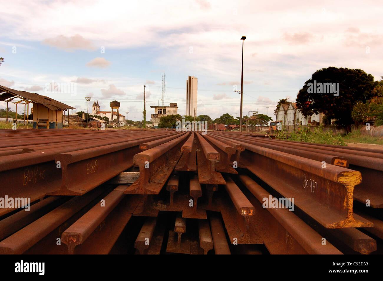 Cais José Estilita, Recife, Brazil. Major terminus of the Northeast declining railway system. - Stock Image