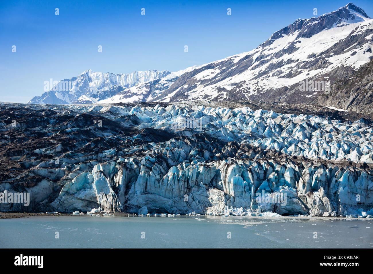 Reid Glacier in Glacier Bay,Alaska - Stock Image