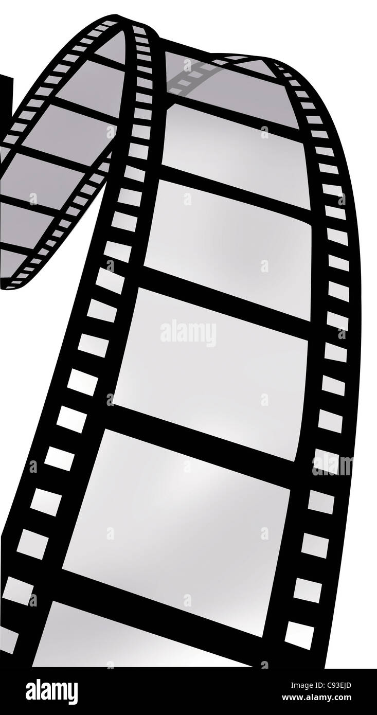 Swirl of Film Reel - Stock Image