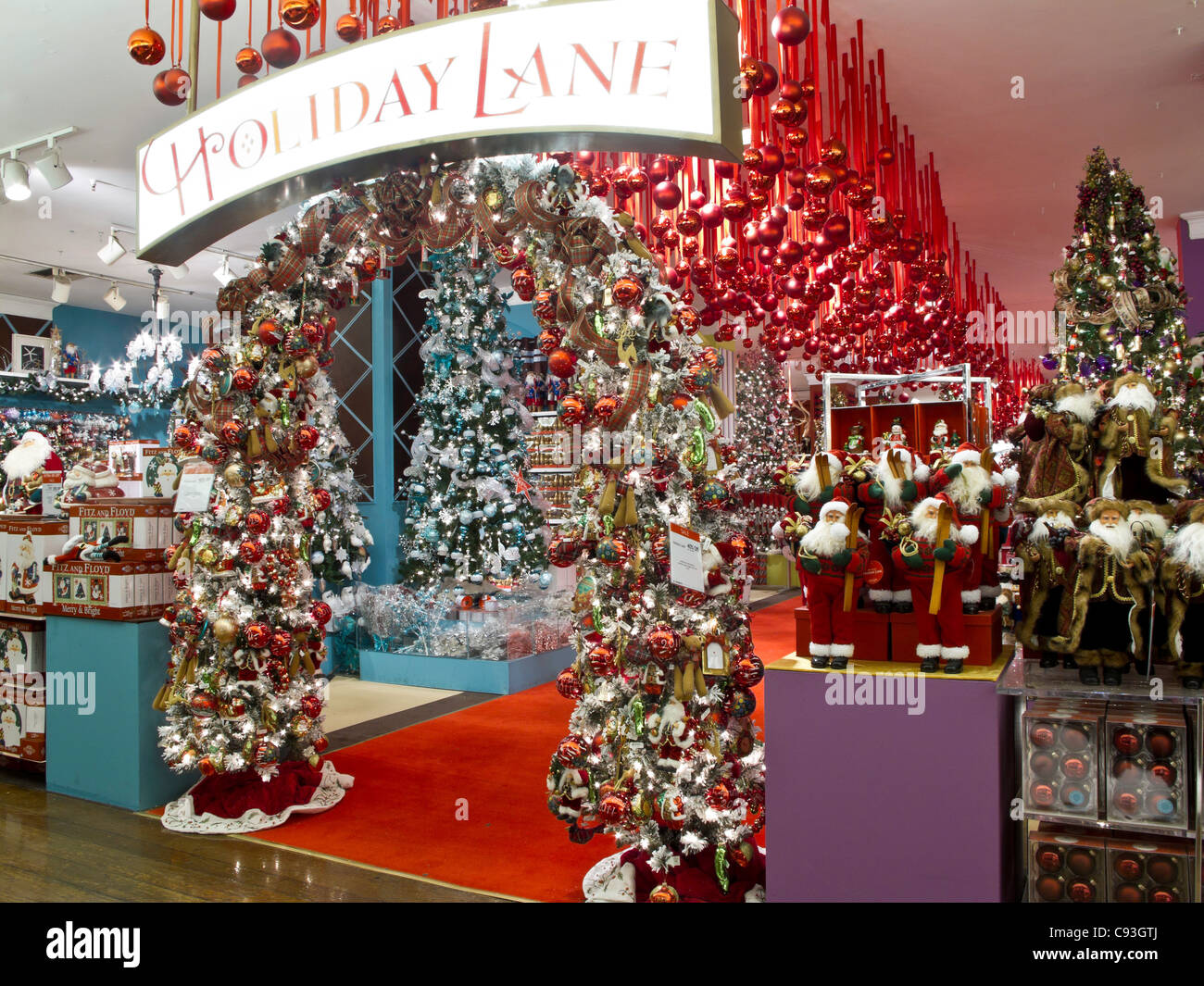 macys department store christmas displays nyc stock image
