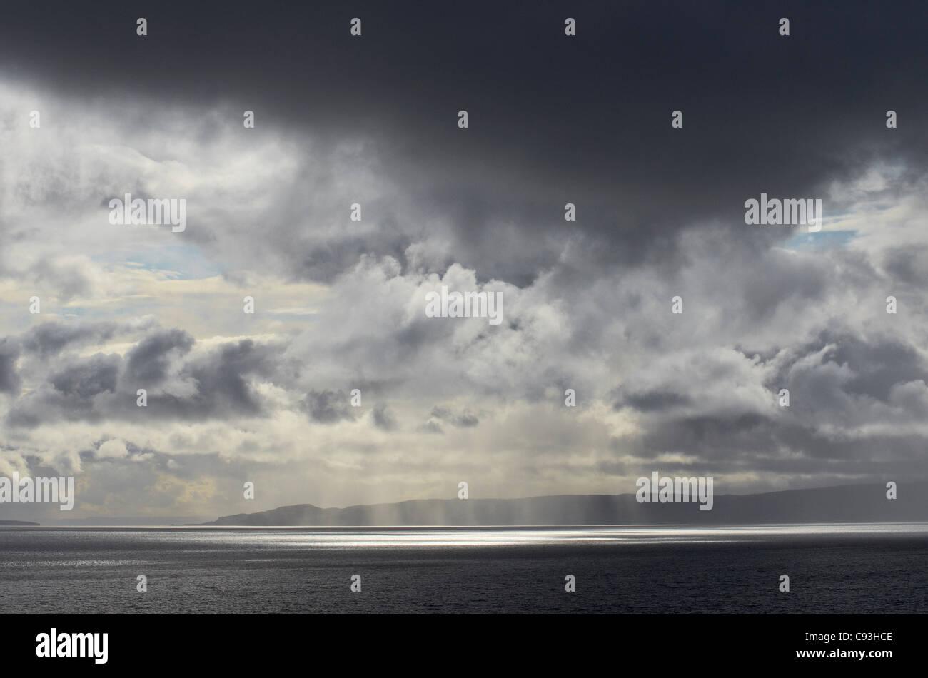 Stormy skies Scottish Highlands - Stock Image