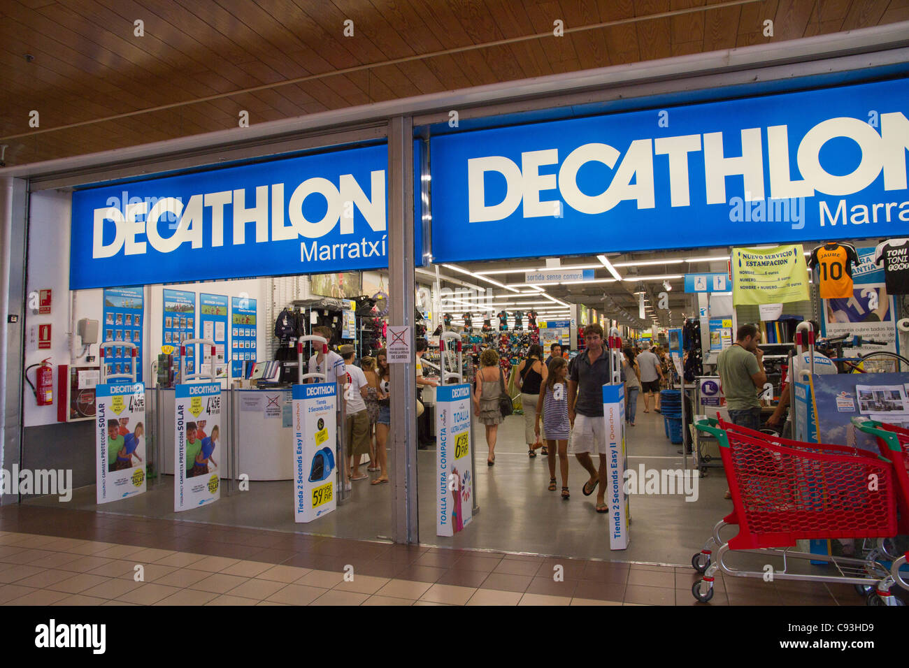a54c5e98b Decathlon store shop Palma de Mallorca Spain Stock Photo  40032197 ...