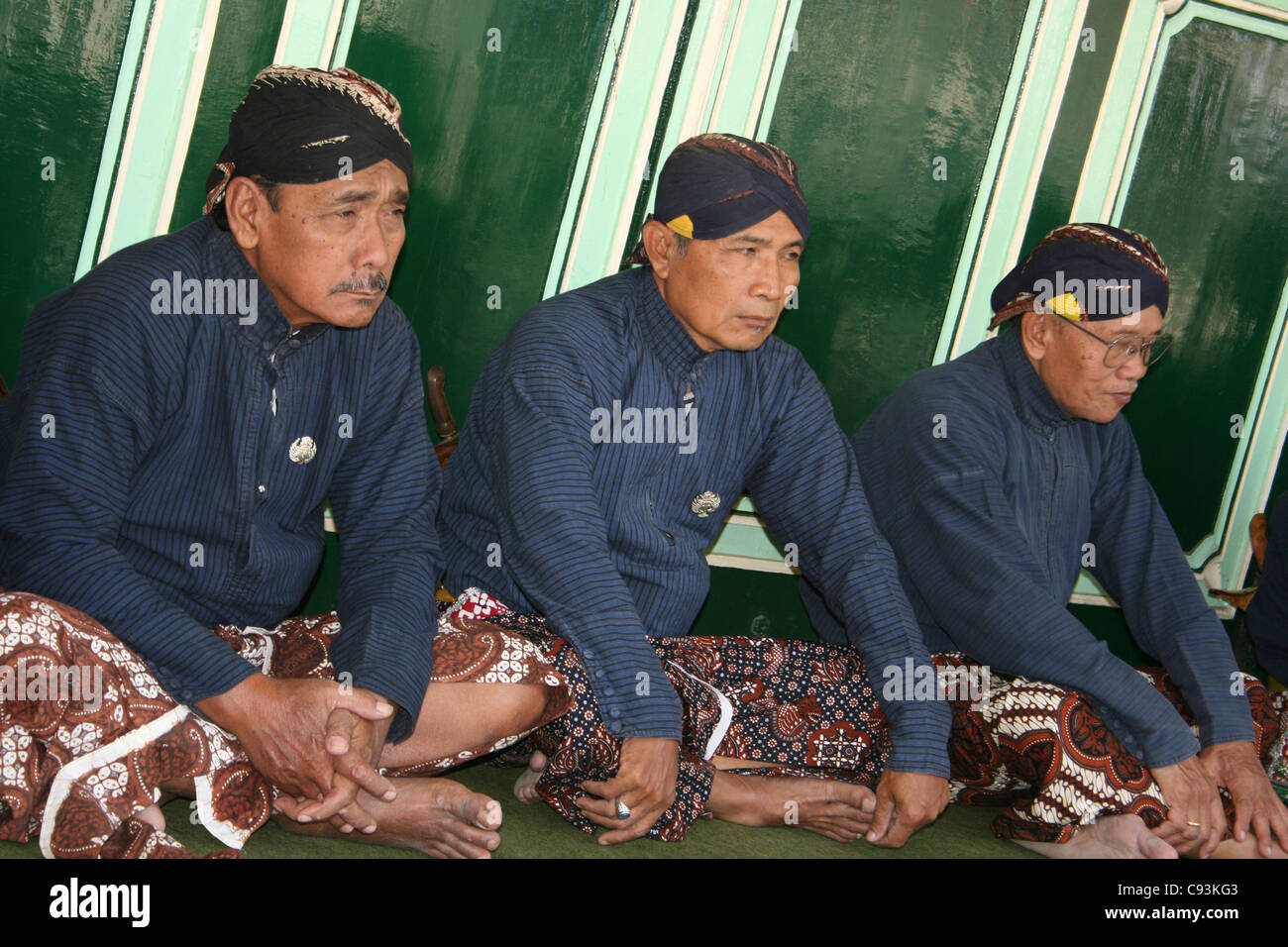 Servants To The Sultan In The Kraton Palace Complex,  Yogyakarta - Stock Image